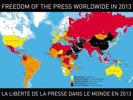 Liberté de la presse en 2013: la France «en jaune», à la 37e place | Les médias face à leur destin | Scoop.it