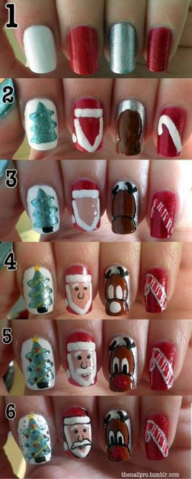 Christmas Icons Nail Art Tutorial - Grand Makeup | Christmas Gifts For Expecting Mothers | Scoop.it