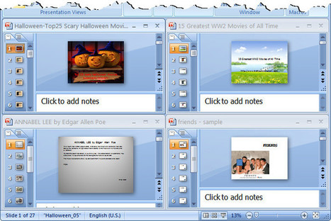 How to View Several PowerPoint Presentations in One Window | ICT Resources for Teachers | Scoop.it