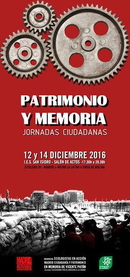 Jornadas sobre patrimonio y memoria. En recuerdo de Vicente Patón | ECO-DIARIO-ALTERNATIVO | Scoop.it