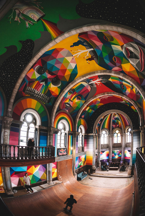 A 100-Year-Old Church in Spain Transformed into a Skate Park Covered in Murals by Okuda San Miguel | What about? What's up? Qué pasa? | Scoop.it