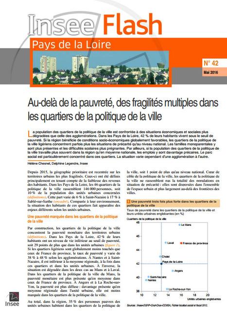 Insee > Au-delà de la pauvreté, des fragilités multiples dans les quartiers de la politique de la ville | Observer les Pays de la Loire | Scoop.it