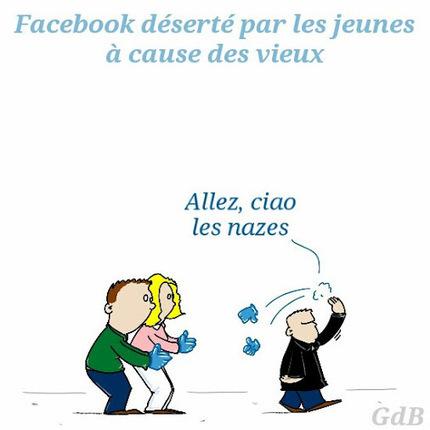 [humour] Facebook déserté par les jeunes à cause des vieux   Social Media Curation par Mon Habitat Web   Scoop.it