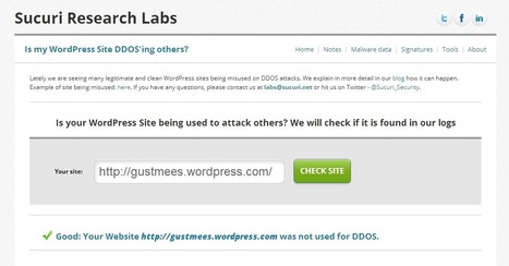 Sucuri Security: Is your WordPress Site being used to attack others? | WordPress and Annotum for Education, Science,Journal Publishing | Scoop.it