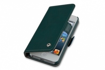 Pocketbook-A5 iPhone 5/5S  genuine leather case  - Green | ThePadZone | Scoop.it