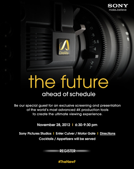 The Future Ahead Of Schedule - #TheNewF | Sony Pictures Studios | November 28, 2012 | 6:30-9:30 PM | Sony Professional | Scoop.it