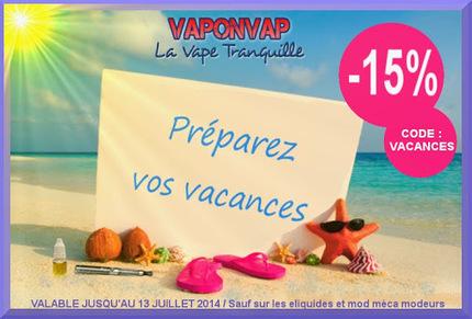 PRÉPAREZ VOS VACANCES -15% | Infos cigarettes éléctroniques | Scoop.it