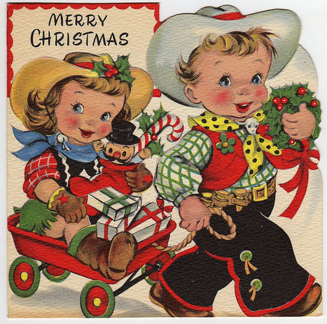 Vintage Western Christmas Card | Western Lifestyle | Scoop.it
