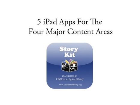5 iPad Apps For The Four Major Content Areas | iPad Apps for Children | Scoop.it