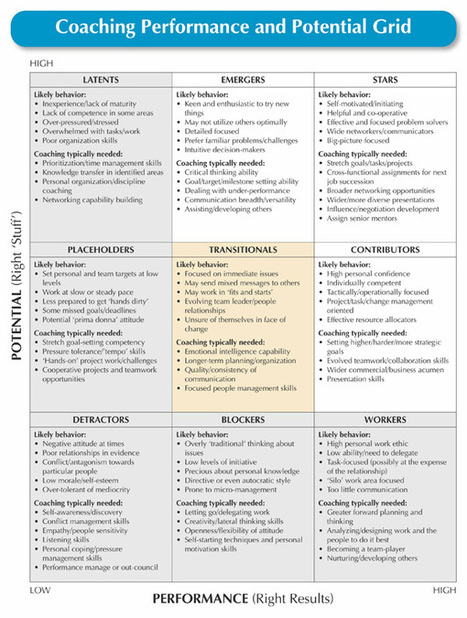 Using a Performance and Potential Grid to Guide Coaching ... | All About Coaching | Scoop.it