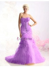 Trumpet Mermaid Strapless Court Train Organza Purple Evening Dress Lbprb12328a1 for $236 | wedding and event | Scoop.it