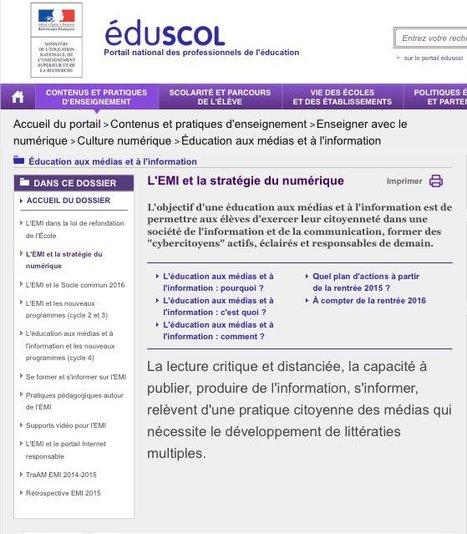 Éducation aux médias et à l'information - L'EMI et la stratégie du numérique | Education & Numérique | Scoop.it