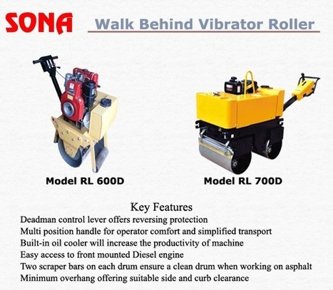 Single and double drum walk behind Vibratory Rollers | Stirrup Bender Machine | Scoop.it