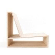 Minimalist, Plywood Chair By Architect Pierre Thibault. - #47971 - NOTCOT.ORG | Arte y Fotografía | Scoop.it