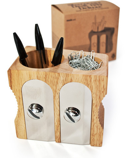 Sharpener pen holder for the desk | Syok! | stationery | Scoop.it