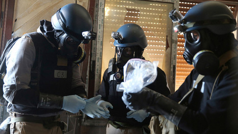 Syria: 'UN inspectors collect samples' in protective clothing - video   Saif al Islam   Scoop.it