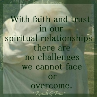 Spiritual Picture Quote About Faith and Trust   Grade Nine Religion Semester 2   Scoop.it