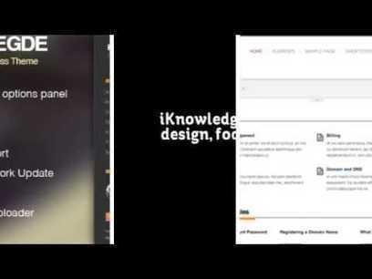 iKnowledge - Knowledge Base / Wiki WordPress Theme + Download | General SEO | Scoop.it