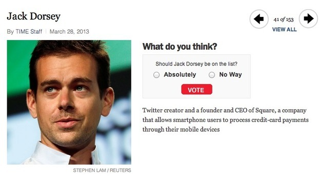 Twitter Co-Founder Contender For 2013 #TIME100 List - And There's Still Time To Vote!