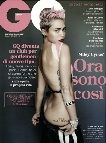 JHP : Cover boy: Miley Cyrus 4 GQ Italia | JAY: LIFESTYLE! | Scoop.it