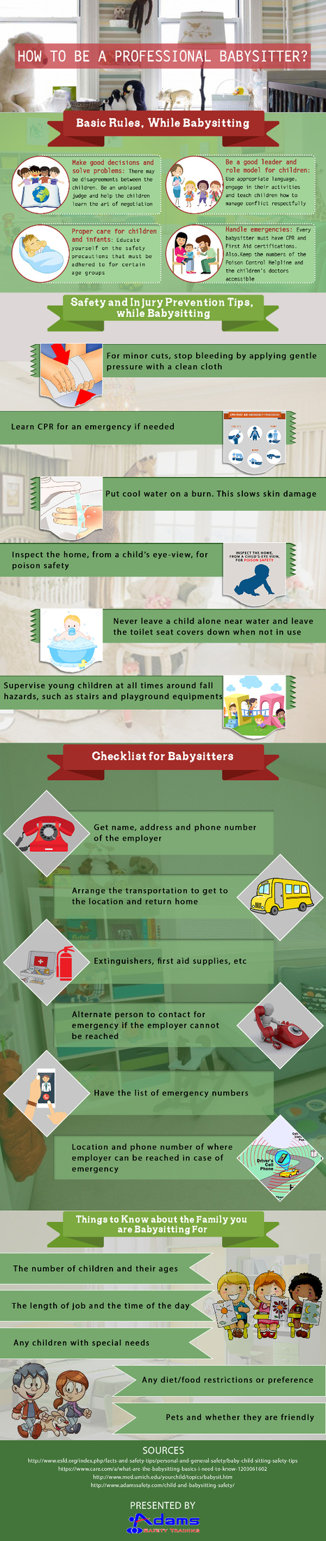 A Complete Guide on How to Become a Professional Babysitter | Infographic | Scoop.it