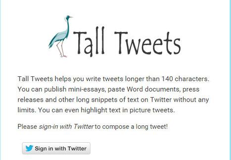 Write Tweets Longer than 140 Characters - Tall Tweets for Tweetstorms and Tweetshots   Teach and tech   Scoop.it