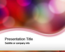 Free Color lights PowerPoint Template | Free Powerpoint Templates | sanskriti | Scoop.it