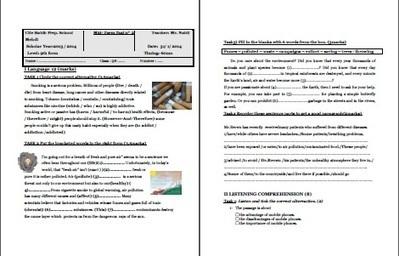 9th form mid term test2 Mr Nabil - New Spotlight on English | New spotlight on English | Scoop.it