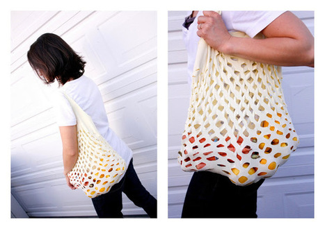 delia creates: Green...Easy Knit Produce Bag   DIY (Do It Yourself)   Scoop.it