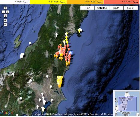 Radioactivité : Carte du Japon et des doses cumulées par régions | Notre planète | Scoop.it