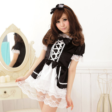 Japanese Lace Trim Maid Princess Dress Costume for Women   Favorite Costumes   Scoop.it
