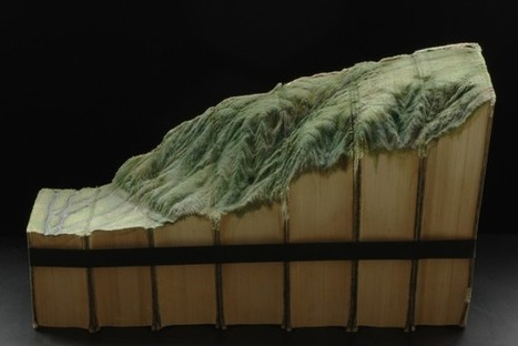 New Carved Book Landscapes by Guy Laramee | Colossal | The brain and illusions | Scoop.it