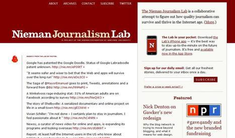 Nieman Journalism Lab | Top sites for journalists | Scoop.it