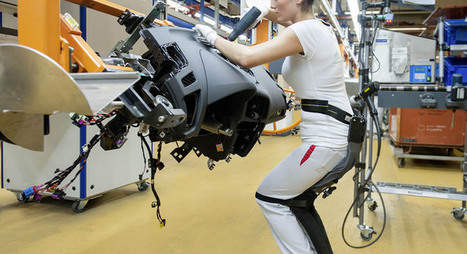 Audi improves ergonomics for assembly workers with 'chairless chair' - Autocar Professional | Workplace Ergonomics | Scoop.it