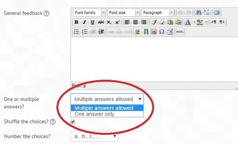 All or Nothing Multiple Choice Question type available | Moodle and Web 2.0 | Scoop.it