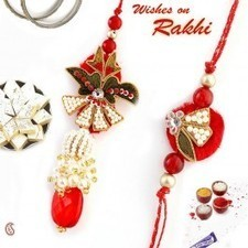 Red Thread work, zardozi and American Diamond Bhaiya Bhabhi Rakhi - Send Rakhi to India   Rakhi Gifts to India, USA, UK, Canada, Australia   Scoop.it
