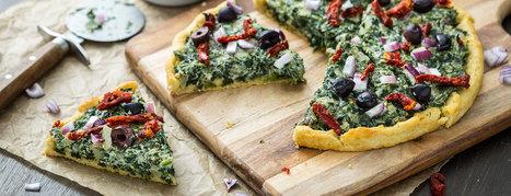 Vegan Recipe: Pizza with Creamed Spinach | Vegan Food | Scoop.it