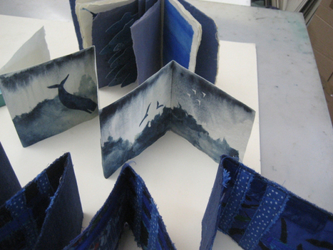 Bookmarking Book Art - ABCD: Blue | Books On Books | Scoop.it