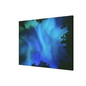 Northern Lights Or Aurora Borealis, Tilton Lake, S Stretched Canvas Print | Wall Art | Scoop.it