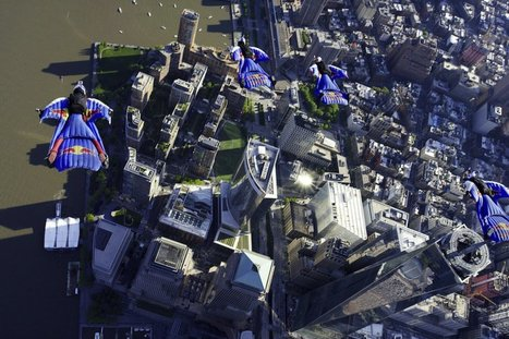 wingsuit flight over new york red bull air force   my selection of news   Scoop.it