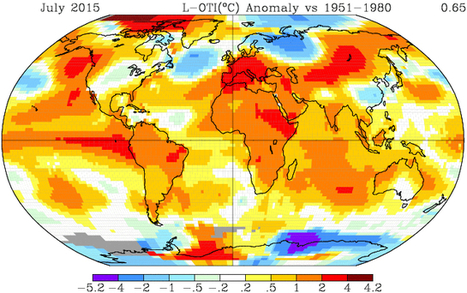 Hottest July On Record Keeps 2015 On Track To Crush 2014 For Hottest Year | Ingeniería del Agua | Scoop.it