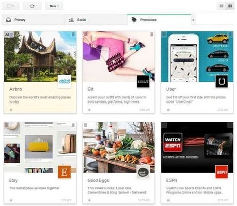 Image is everything: Gmail launches the promotions grid | Online Mobile Web Marketing | Scoop.it