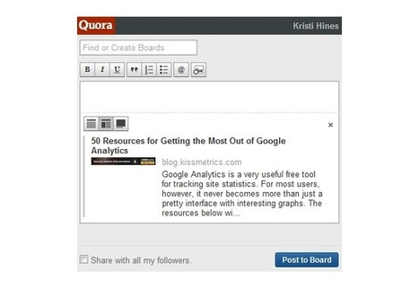 The Marketer's Guide to Quora | Social Influence Marketing | Scoop.it