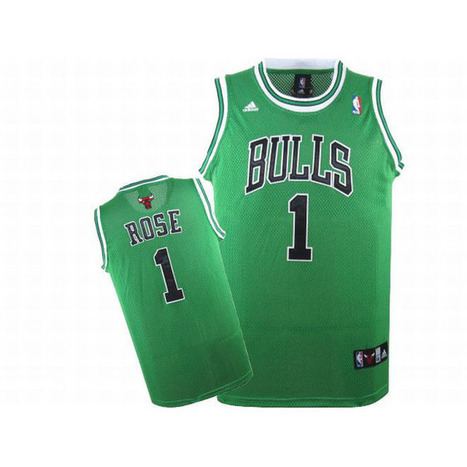 Adidas Rose #1 Green Swingman Bulls Jersey Black White Number | new and share style | Scoop.it