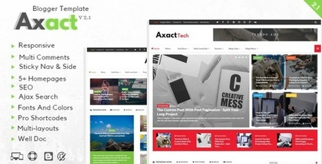 BloggersStand - Micro Blogging + SEO Tips + Make Money: Axact V2.1 - Responsive Magazine Blogger Template | Blogger themes | Scoop.it