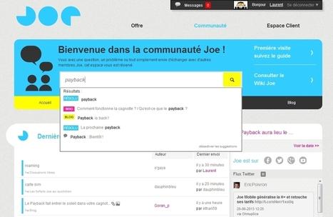 Joe Mobile peaufine le parcours client grâce à sa communauté | Web Marketing | Scoop.it