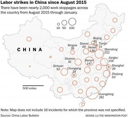 Strikes and workers' protests multiply in China, testing party authority | Occupational and Environment Health | Scoop.it