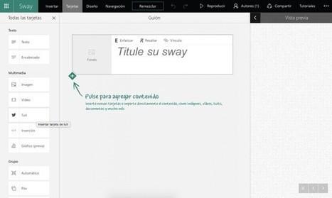 Sway, cómo crear presentaciones increíbles en cuestión de minutos - AnexoM - Blog oficial de Jazztel | Herramientas Web 2.0 para docentes | Scoop.it