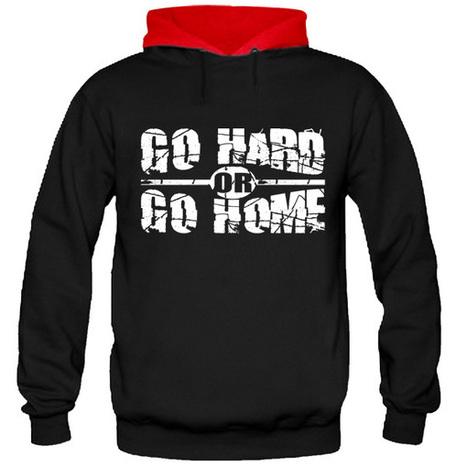 GO HARD OR GO HOME FULL SLEEVE HOODIE | SAY IT LOUD | t shirt printing | Scoop.it