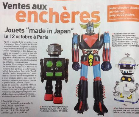 Made in japan : génération 80 | Vente aux encheres design et pop culture | Scoop.it